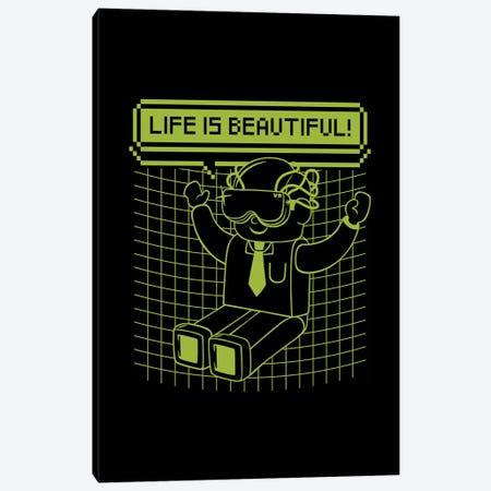 Life Is Beautiful Canvas Print #TFA506} by Tobias Fonseca Canvas Art Print