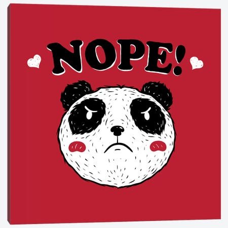 Nope Panda Canvas Print #TFA507} by Tobias Fonseca Canvas Art Print