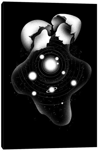 Cosmic Egg Shell Canvas Print #TFA50