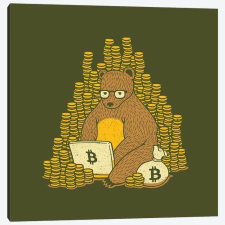 Bitcoin Miner Bear Canvas Print #TFA514} by Tobias Fonseca Canvas Art