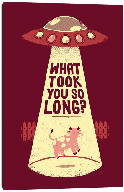 Why Did You Took So Long Alien Funny Canvas Art Print