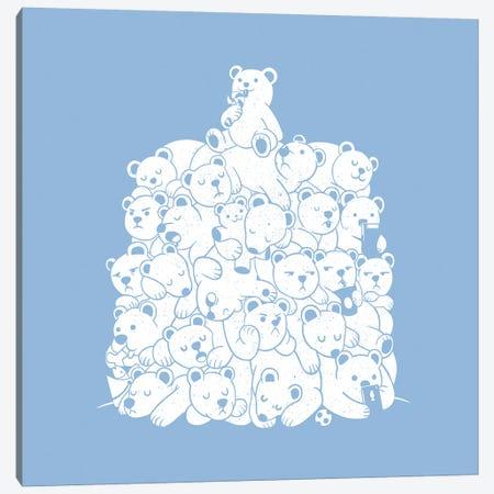 Bear Hibernation Kids Canvas Print #TFA520} by Tobias Fonseca Canvas Artwork