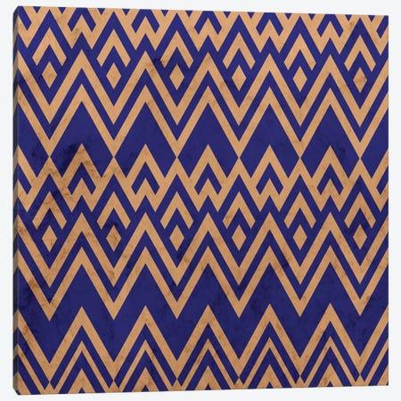 Blue Pines Vintage Pattern Canvas Print #TFA529} by Tobias Fonseca Canvas Wall Art