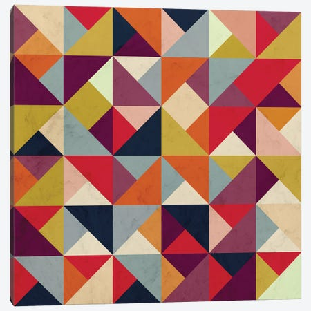Bright Geometric Happy Pattern Canvas Print #TFA530} by Tobias Fonseca Art Print