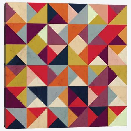 Bright Geometric Happy Pattern Canvas Print #TFA530} by Tobias Fonseca Art Print
