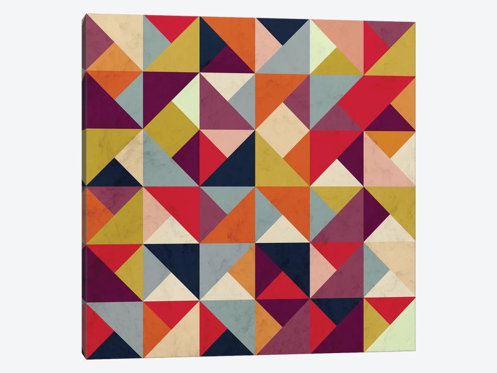 Bright Geometric Happy Pattern by Tobias Fonseca 1-piece Canvas Wall Art