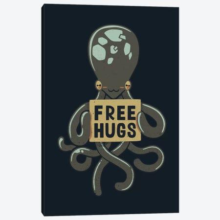 Free Hugs Octopus Canvas Print #TFA535} by Tobias Fonseca Canvas Artwork