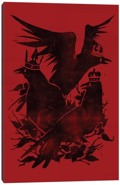 Crowned Crows Canvas Art Print