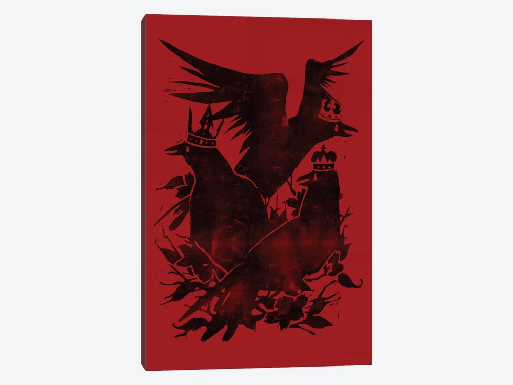 Crowned Crows by Tobias Fonseca 1-piece Canvas Art Print