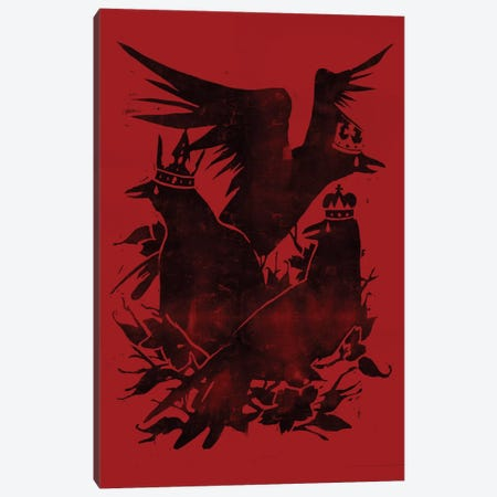 Crowned Crows Canvas Print #TFA53} by Tobias Fonseca Canvas Print