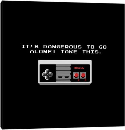 It's Dangerous To Go Alone Take This Video Game Controller Canvas Art Print