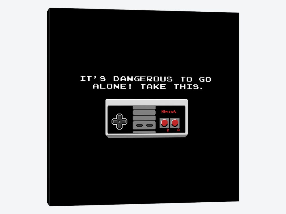 It's Dangerous To Go Alone Take This Video Game Controller by Tobias Fonseca 1-piece Canvas Art Print