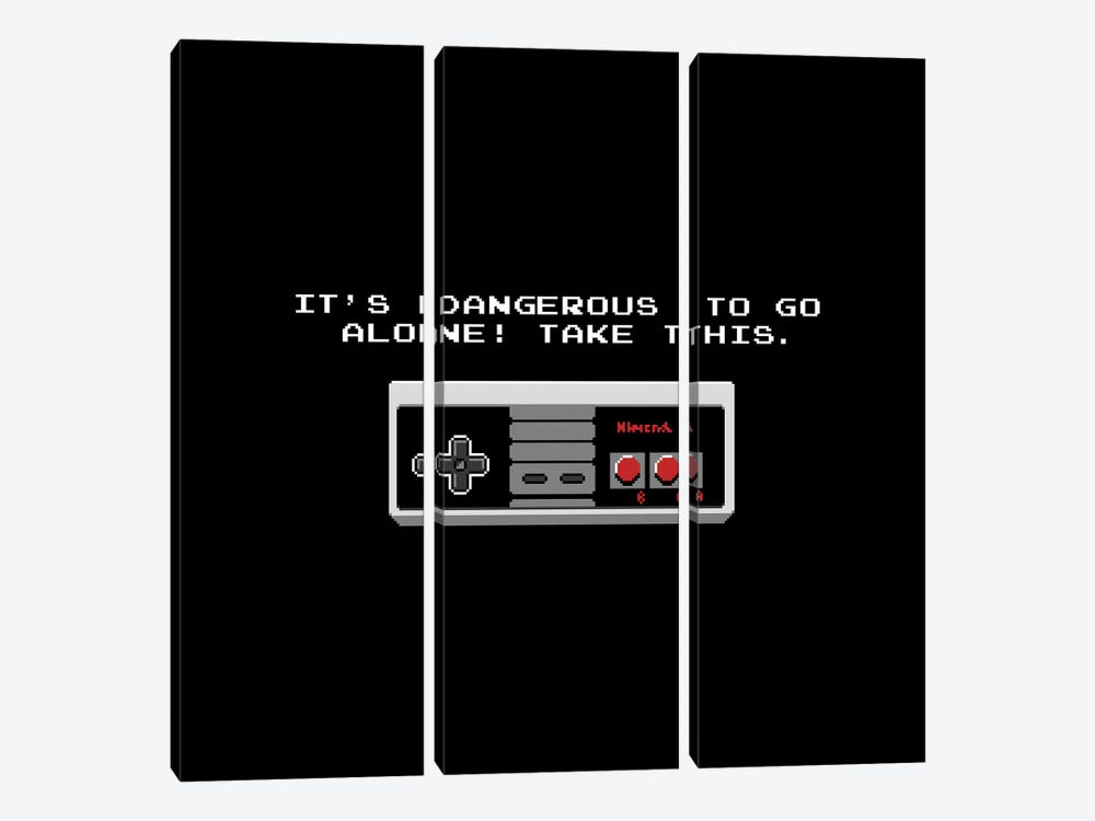 It's Dangerous To Go Alone Take This Video Game Controller by Tobias Fonseca 3-piece Art Print
