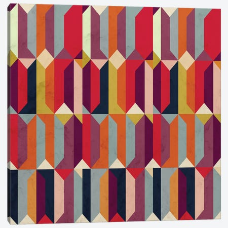 Geometric Icelandic Colors Canvas Print #TFA549} by Tobias Fonseca Canvas Wall Art