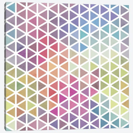 Geometric Fractal Triangles Bubblegum Rain Canvas Print #TFA552} by Tobias Fonseca Canvas Art Print