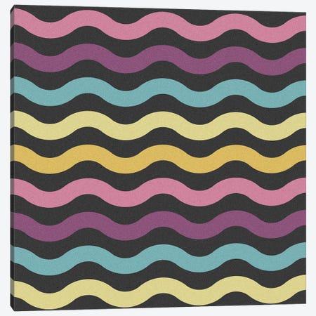 Rainbow Waves Canvas Print #TFA555} by Tobias Fonseca Canvas Artwork