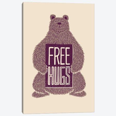 Free Hugs Bear Canvas Print #TFA556} by Tobias Fonseca Canvas Wall Art