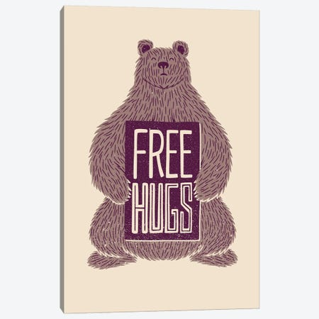 Free Hugs Bear Canvas Print #TFA556} by Tobias Fonseca Canvas Wall Art