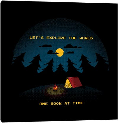 Let's Explore The World Canvas Art Print