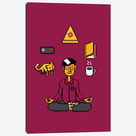 Meditation Games Coffee And Books 3-Piece Canvas #TFA560} by Tobias Fonseca Canvas Wall Art