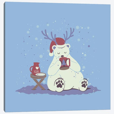 Polar Xmas Eggnog Canvas Print #TFA564} by Tobias Fonseca Canvas Art Print
