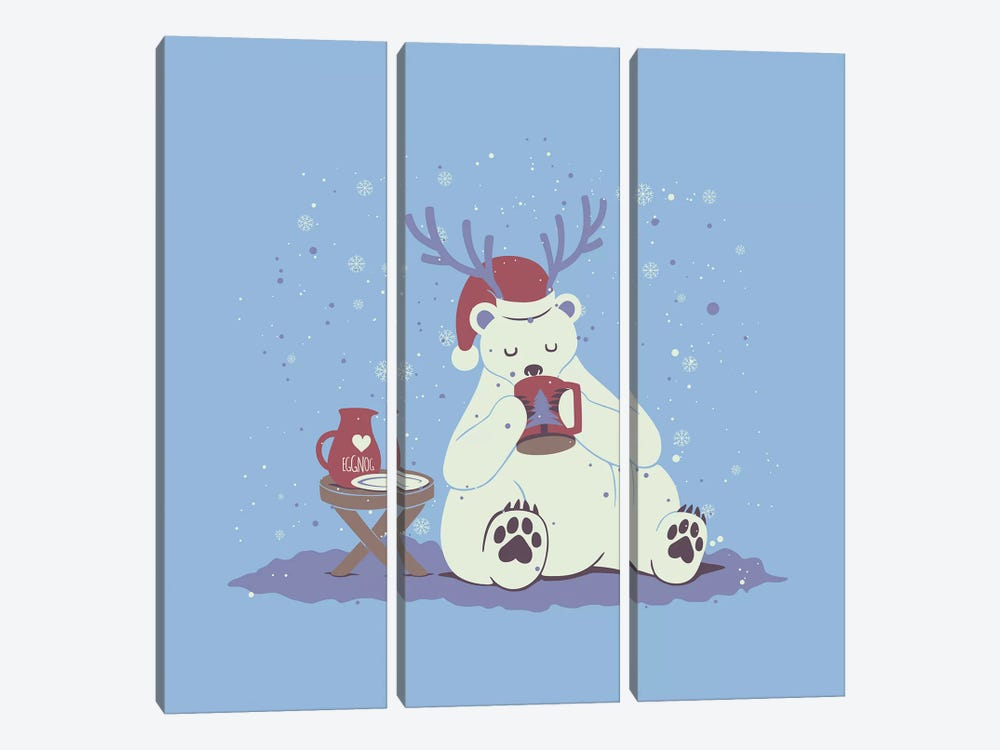 Polar Xmas Eggnog by Tobias Fonseca 3-piece Art Print