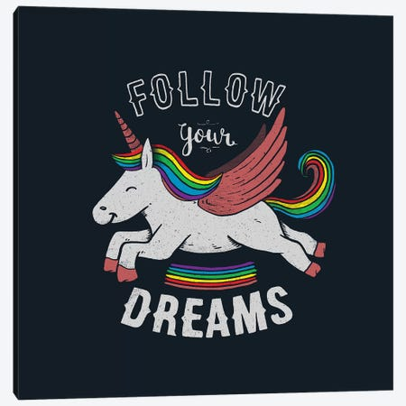 Follow Your Dreams Canvas Print #TFA567} by Tobias Fonseca Canvas Art Print