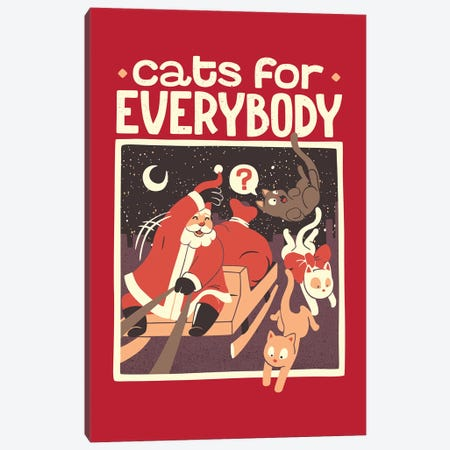 Cats For Everybody Canvas Print #TFA590} by Tobias Fonseca Canvas Print