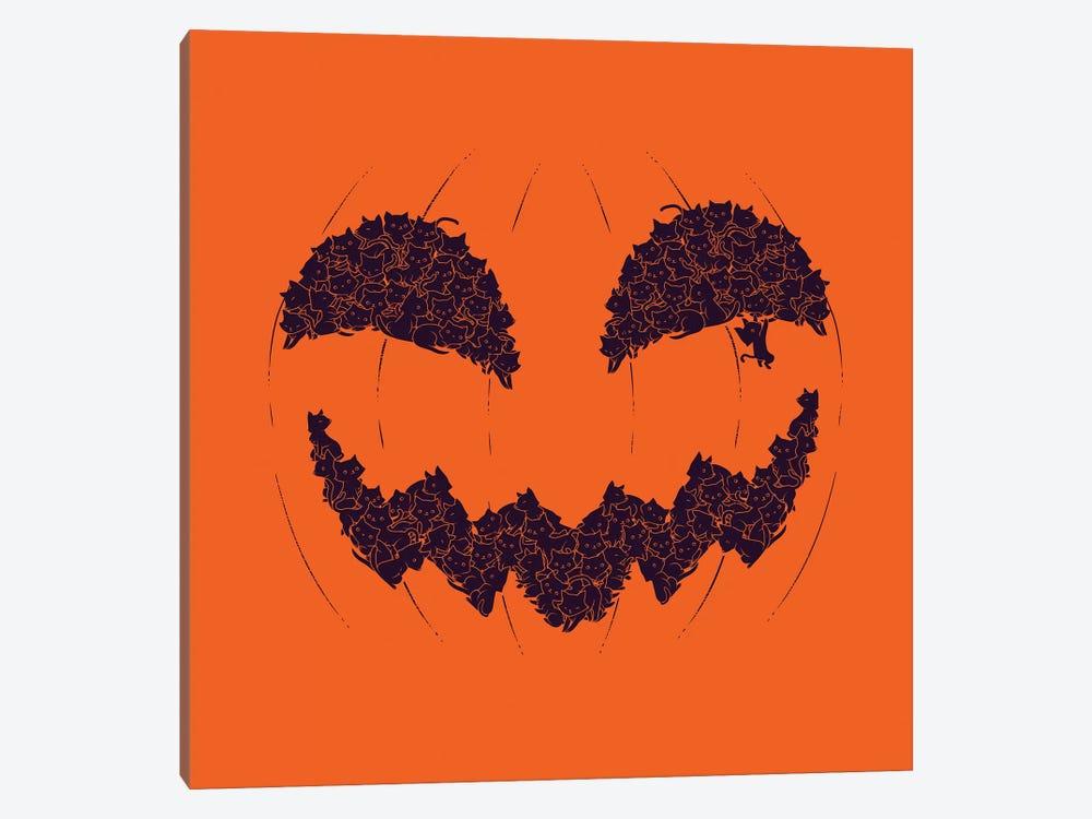 Halloween Pumpkin Cat by Tobias Fonseca 1-piece Canvas Print