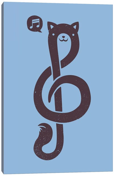 Musicat Canvas Art Print