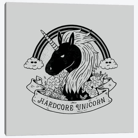 Hardcore Unicorn Canvas Print #TFA599} by Tobias Fonseca Art Print