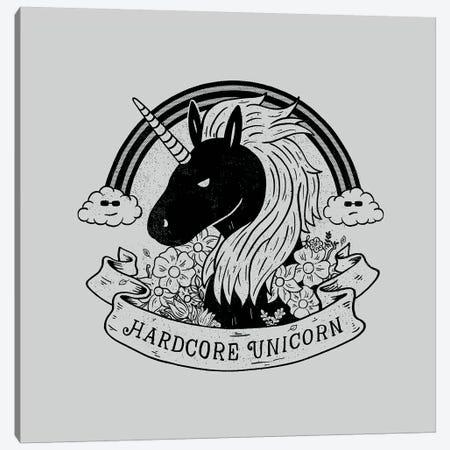 Hardcore Unicorn Canvas Print #TFA599} by Tobias Fonseca Art Print