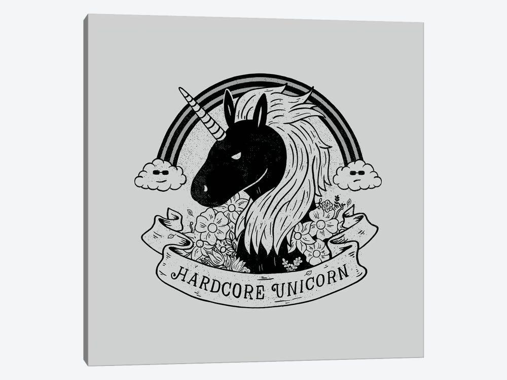 Hardcore Unicorn by Tobias Fonseca 1-piece Canvas Art Print