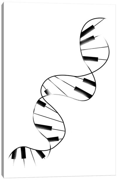 DNA Piano Canvas Art Print