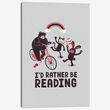 I'd Rather Be Reading Canvas Print #TFA600} by Tobias Fonseca Art Print