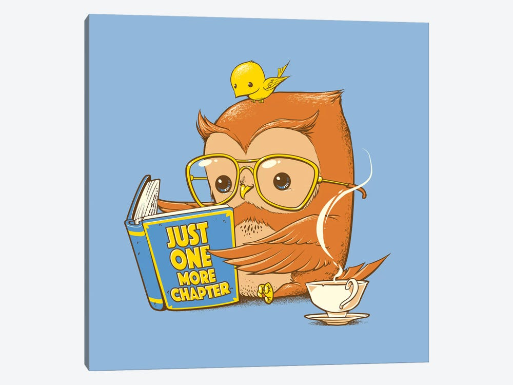 Just One More Chapter Owl by Tobias Fonseca 1-piece Canvas Artwork