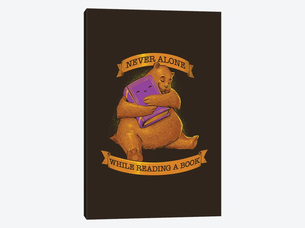 Never Alone While Reading A Book Bear by Tobias Fonseca 1-piece Canvas Print