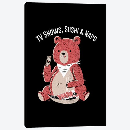 TV Show, Sushi & Naps Canvas Print #TFA614} by Tobias Fonseca Canvas Art Print