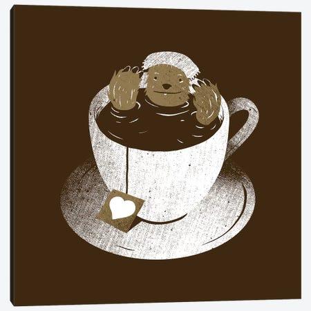 Monday Bath Sloth Coffee Canvas Print #TFA617} by Tobias Fonseca Canvas Art Print