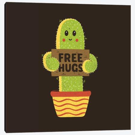 Free Hugs Cactus Canvas Print #TFA618} by Tobias Fonseca Canvas Art