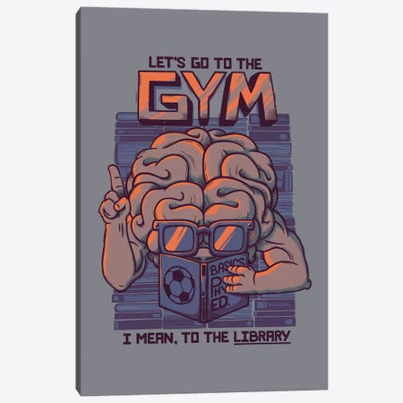 Let's Go To The Gym Canvas Print #TFA622} by Tobias Fonseca Canvas Art Print