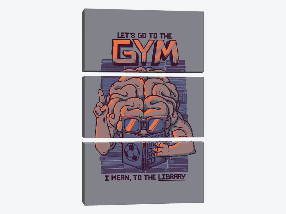 Let's Go To The Gym by Tobias Fonseca 3-piece Canvas Art Print