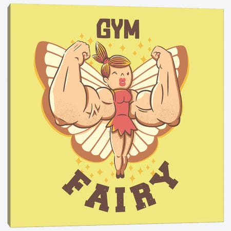 Gym Fairy Canvas Print #TFA624} by Tobias Fonseca Canvas Wall Art