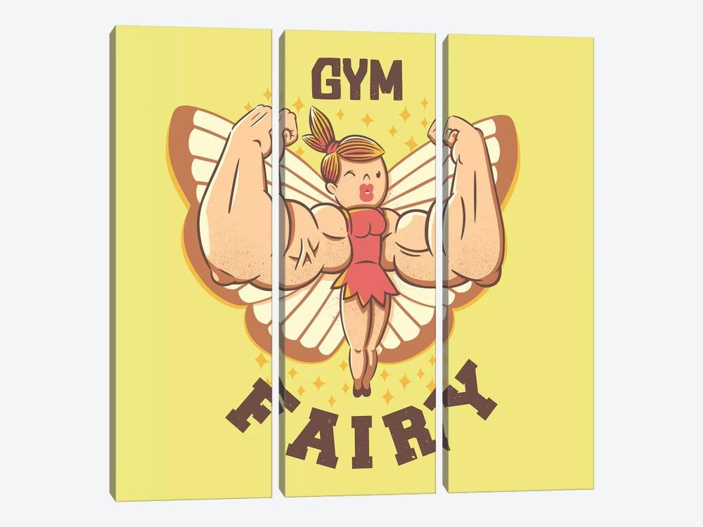 Gym Fairy by Tobias Fonseca 3-piece Canvas Art Print