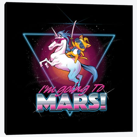 I'm Going To Mars! Canvas Print #TFA632} by Tobias Fonseca Canvas Art