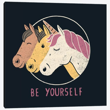 Be Yourself Canvas Print #TFA636} by Tobias Fonseca Canvas Art Print