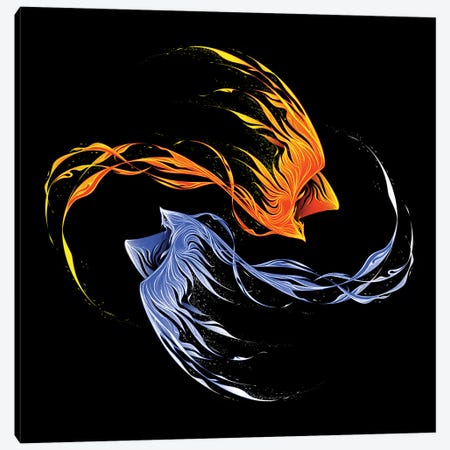 Phoenix Ice And Fire II Canvas Print #TFA650} by Tobias Fonseca Canvas Art