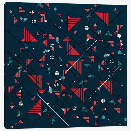 Geometric Abstract Red Pattern II Canvas Print #TFA658} by Tobias Fonseca Canvas Art
