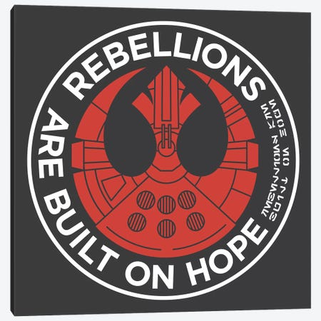 Rebellions Are Built On Hope Canvas Print #TFA662} by Tobias Fonseca Canvas Art Print