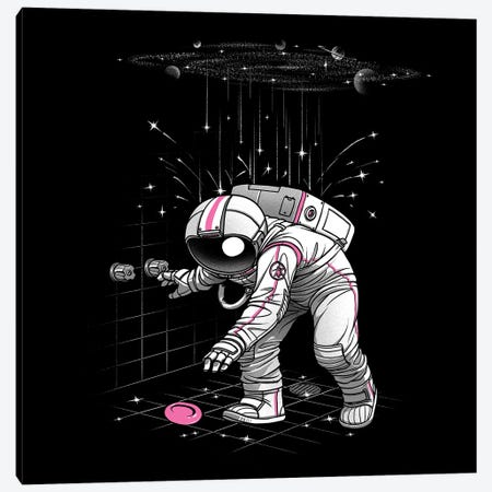 Meteor Shower Astronaut Canvas Print #TFA671} by Tobias Fonseca Canvas Art